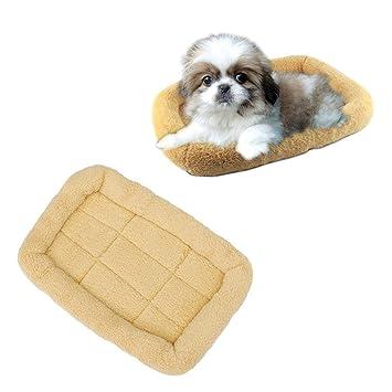 POPETPOP Cama para Perros para Mascotas Sofá Estera Gato de Felpa Cama para Mascotas Casa para