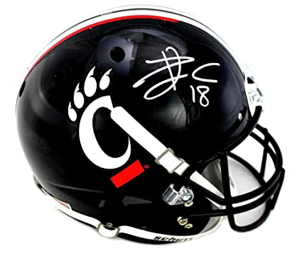 newest d90d2 2bf26 Amazon.com: Travis Kelce Signed Cincinnati Bearcats Schutt ...
