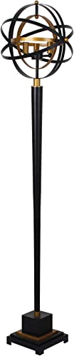 Sagebrook Home 50326 Metal 60″ Armilary Floor Lamp,Black
