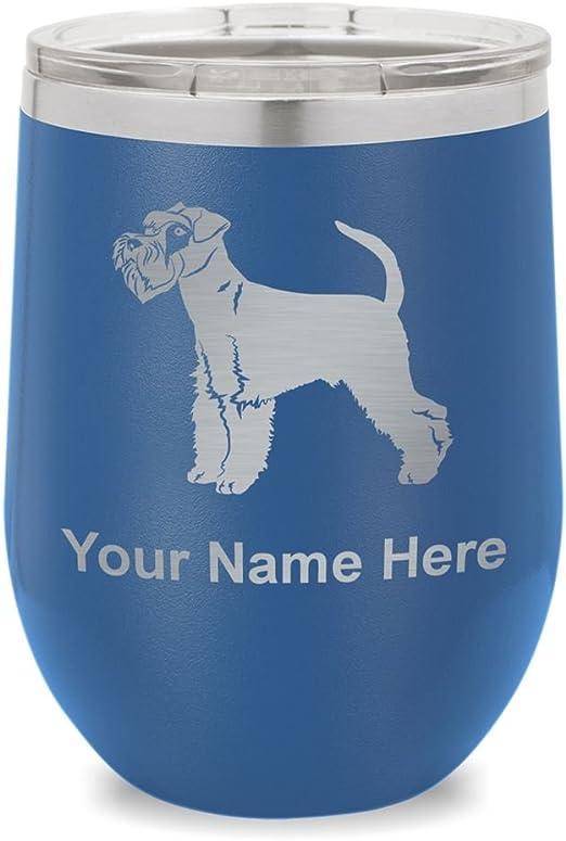 Fox Terrier Wine Glass Dog Gift Personalised Engraved Gift For Terrier Dog Lover