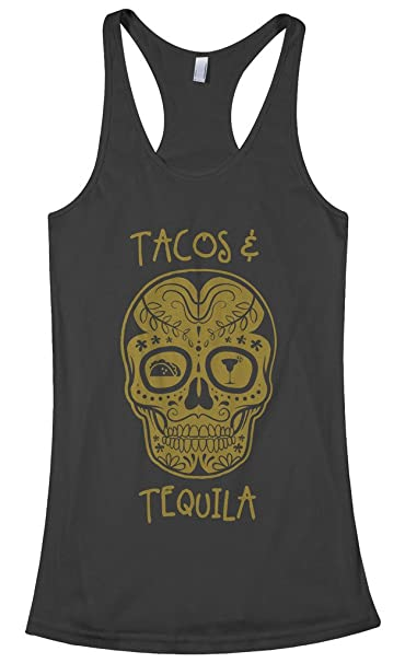 241875bb05c94 Amazon.com  Threadrock Women s Tacos and Tequila Racerback Tank Top   Clothing