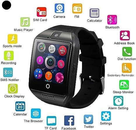 Amazon.com: Reloj inteligente Bluetooth con cámara ...