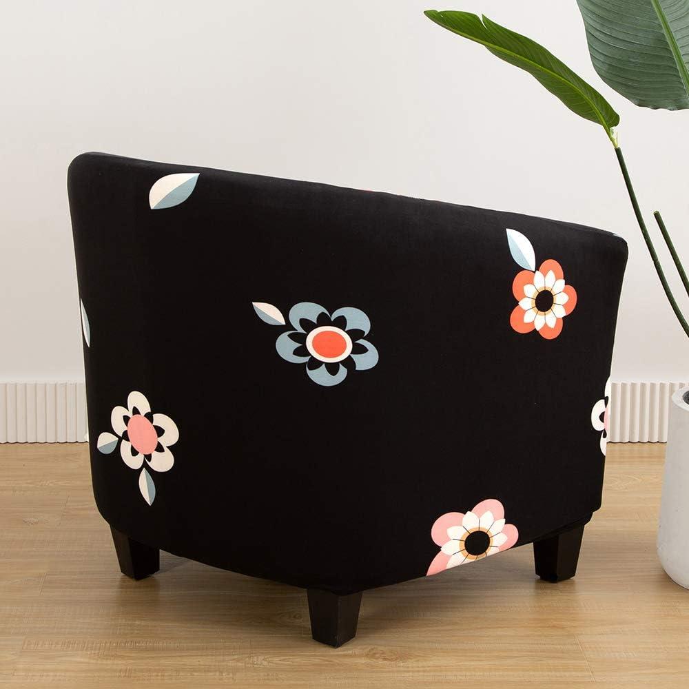 Hoomall Housse de Fauteuil Cabriolet Tub Chair Housse Fauteuil Chesterfield Imprim/é Housse de Canap/é Extensible Housse de Chaise Extensible