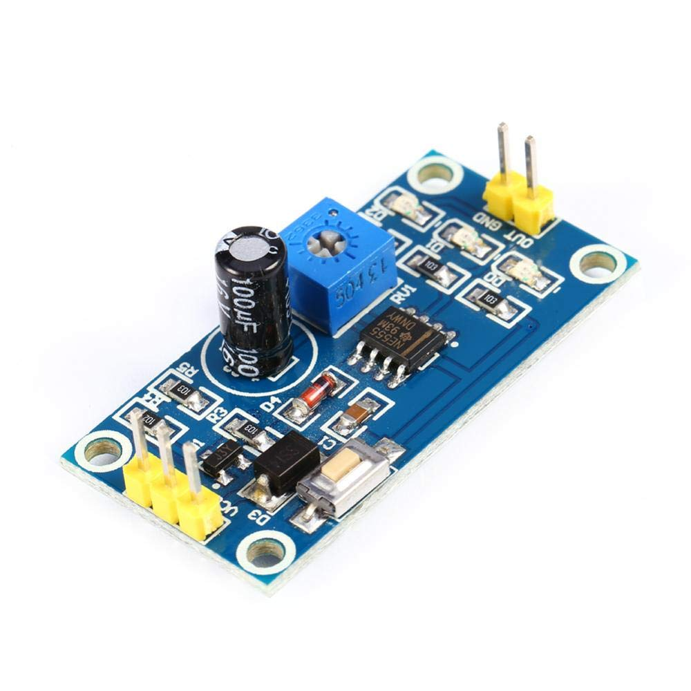0-120s Zeitverz/ögerung Controller Verz/ögerungstimer NE555 Einstellbarer Modul On-Board Test Taste Verz/ögerungsrelais 5-12V