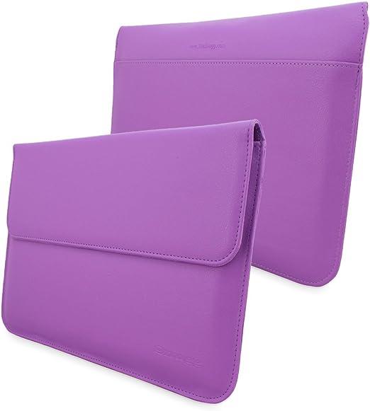 Funda para MacBook 12, Snugg ™ - Estuche De Cuero Violeta con Una ...