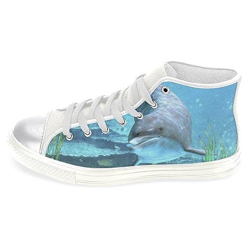 f6b0612740bd3 Amazon.com | InterestPrint Fashion Sneaker Painted Love OES-blk ...