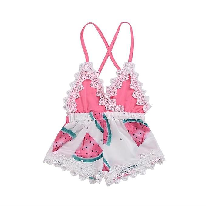 Amazon.com: 2018 bebé niña ropa de verano lindo sandía ...