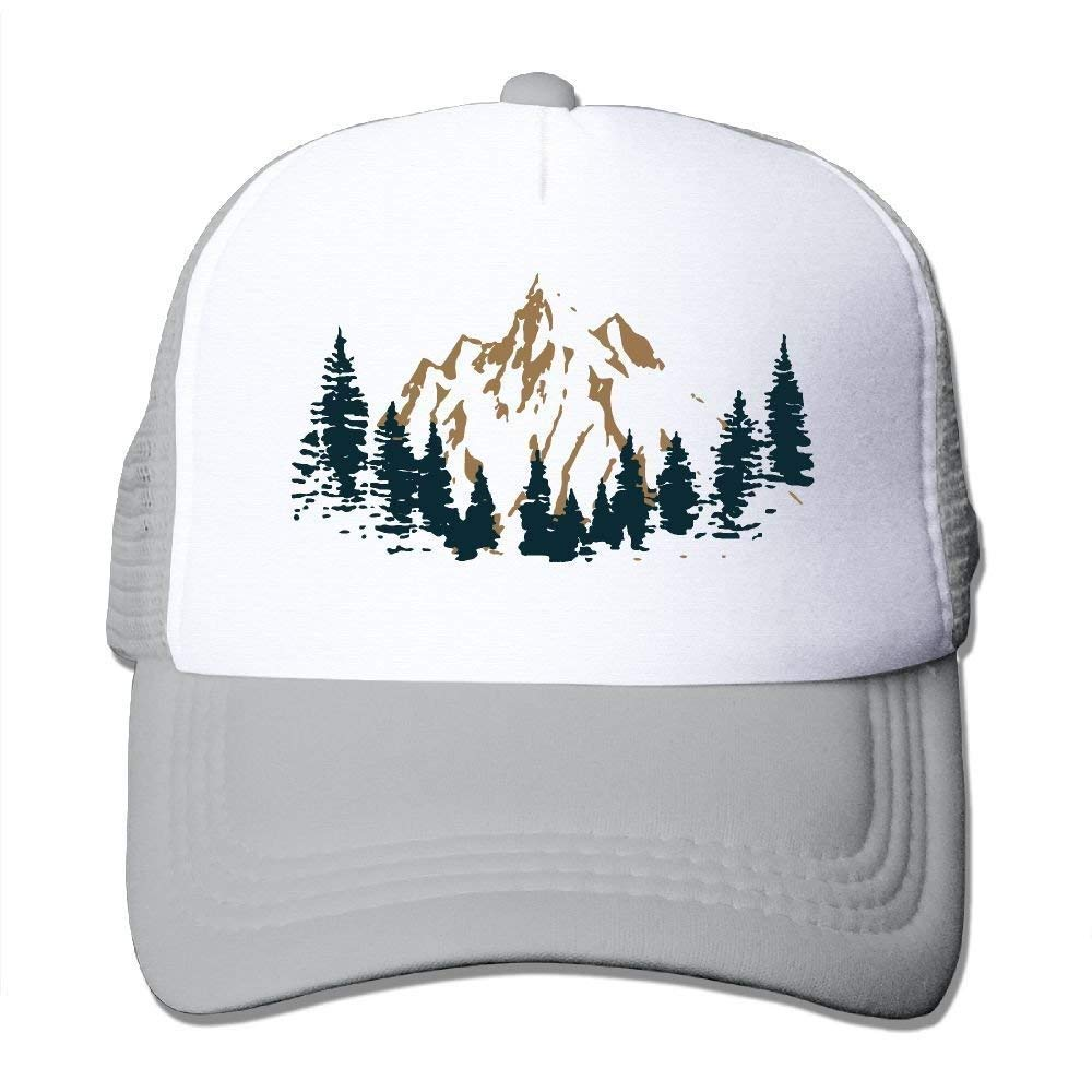 Abstract Mountain Adjustable Mesh Hat Two Tone Trucker Hat JTRVW Cowboy Hats