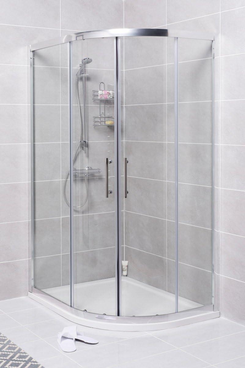 1200 mm LH Offset cuadrante de ducha juego de baño + WC para ...