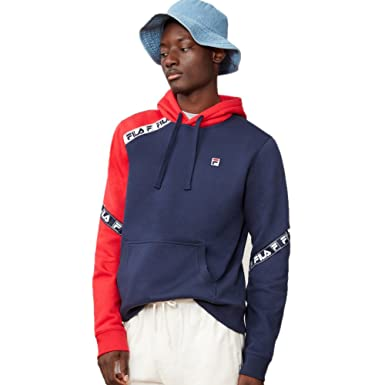 80108072d014 Fila Men's Tag Fleece Hoodie, Navy, Chinese Red, L at Amazon Men's ...