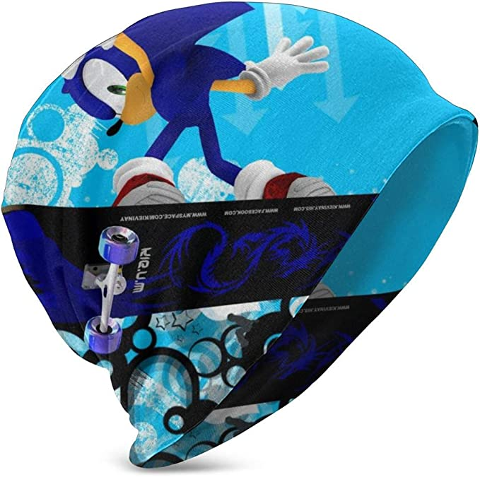 Sonic Hedgehog Warm Winter Hat Knit Beanie Skull Cap Cuff Beanie Hat Winter Hats Children