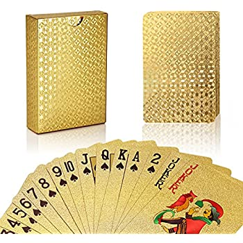 Amazon.com: Trademark Poker GLDCARD 24K Gold Playing Cards ...