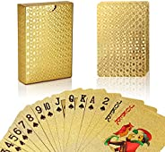 Joyoldelf Black Playing Cards, Waterproof Cards with Cube Pattern on Back of Cards, Deck of Cards with Box for