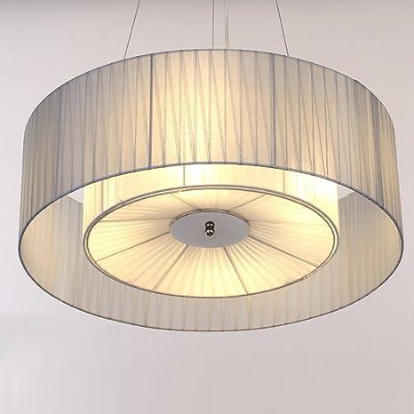 Diseño moderno Tela Paraguas Luz colgante Simple Cocina creativa Comedor Redondo Lámpara colgante de metal Sala