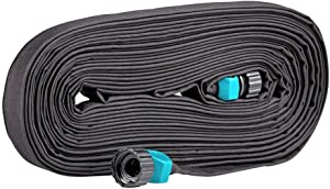 Rocky Mountain Goods Flat Soaker Hose - Heavy Duty Double Layer Design - Saves 70% Water - Consistent Drip Throughout Hose - Leakproof Guarantee - Garden/Vegetable Safe (1, 25 FT)