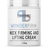 Pure Biology Neck Firming Cream, Anti Aging Wrinkle Cream for Face, Neck, Chest & Decolette, Skin Tightening Cream & Firming Lotion with Shea Butter Reduces Double Chin & Wrinkles for Women & Men
