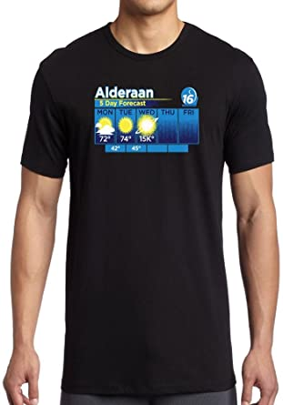 f5cb1355a Alderaan 5 Day Weather Forcast - Star Wars - Mens T-Shirt: Amazon.co ...