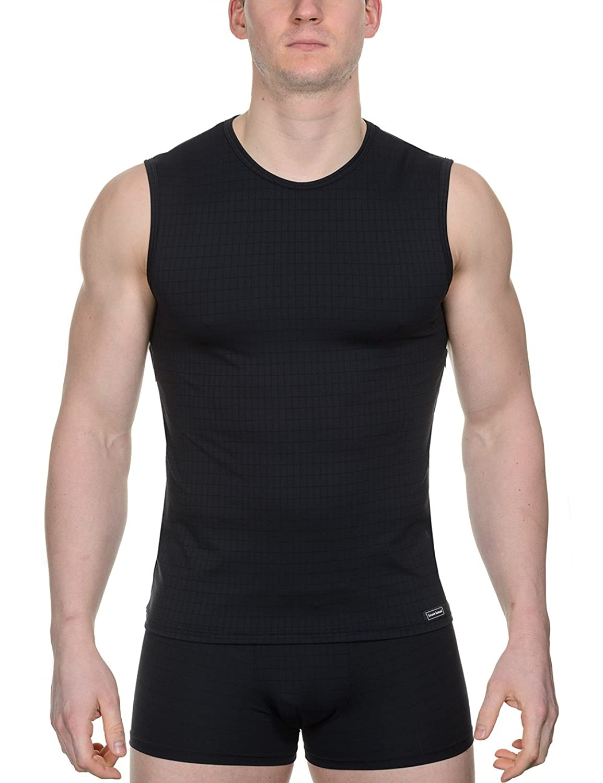 Bruno Banani Men's Tanktop Check Line Sleeveless Vest