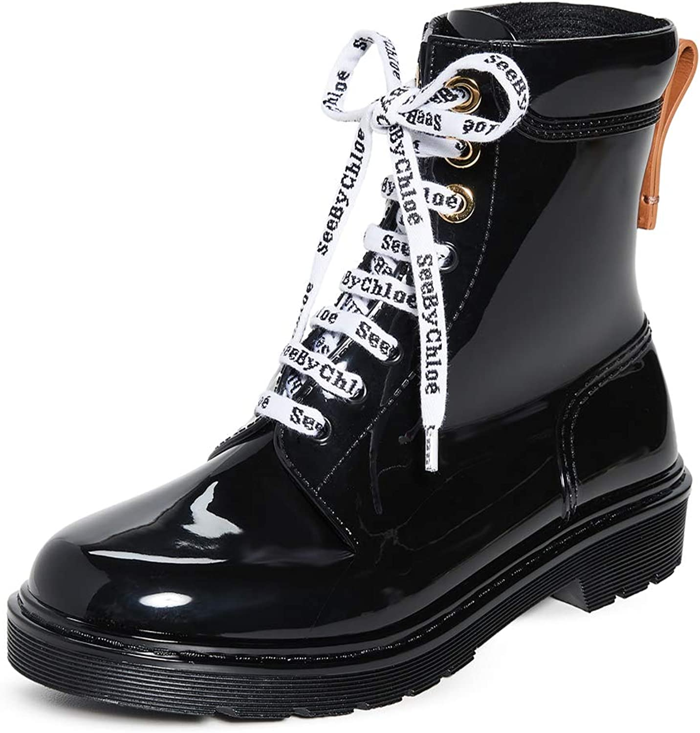 chloe boots lace up
