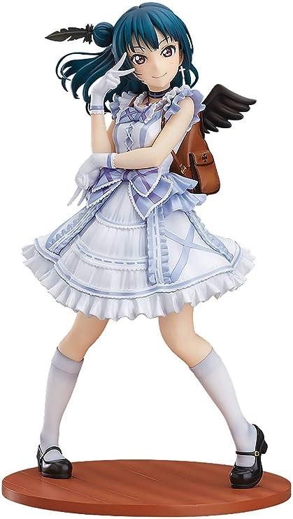Amazon Com With Fans Love Live Sunshine Yoshiko Tsushima Blu Ray Jacket Version 1 7 Scale Pvc Figure Multicolor Toys Games