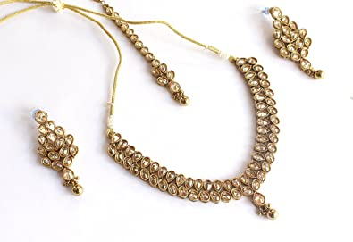 Studded Brass Choker Jewelry Set