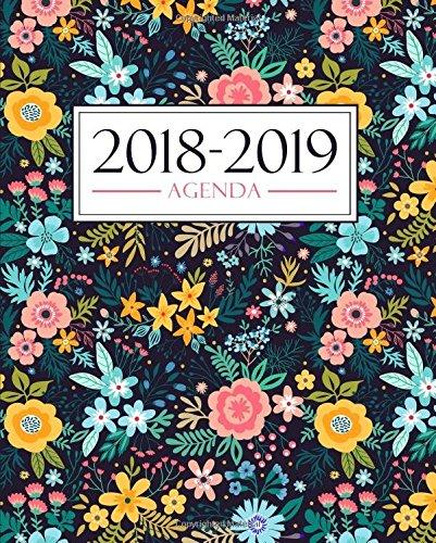Agenda 2018-2019: 19x23cm : Agenda 2018 2019 semainier : Motif floral 3407 Broché – 22 juillet 2018 Papeterie Bleu Gray & Gold Publishing 1640013407