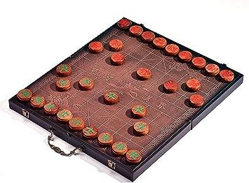 dxx Juego de ajedrez de madera Set Junta Damas chinas con madera hecho a mano Piezas para regalo de empresa de cumpleaños de vacaciones colección de juegos Conjuntos,Como la imagen,4.8cm pieza diámet: