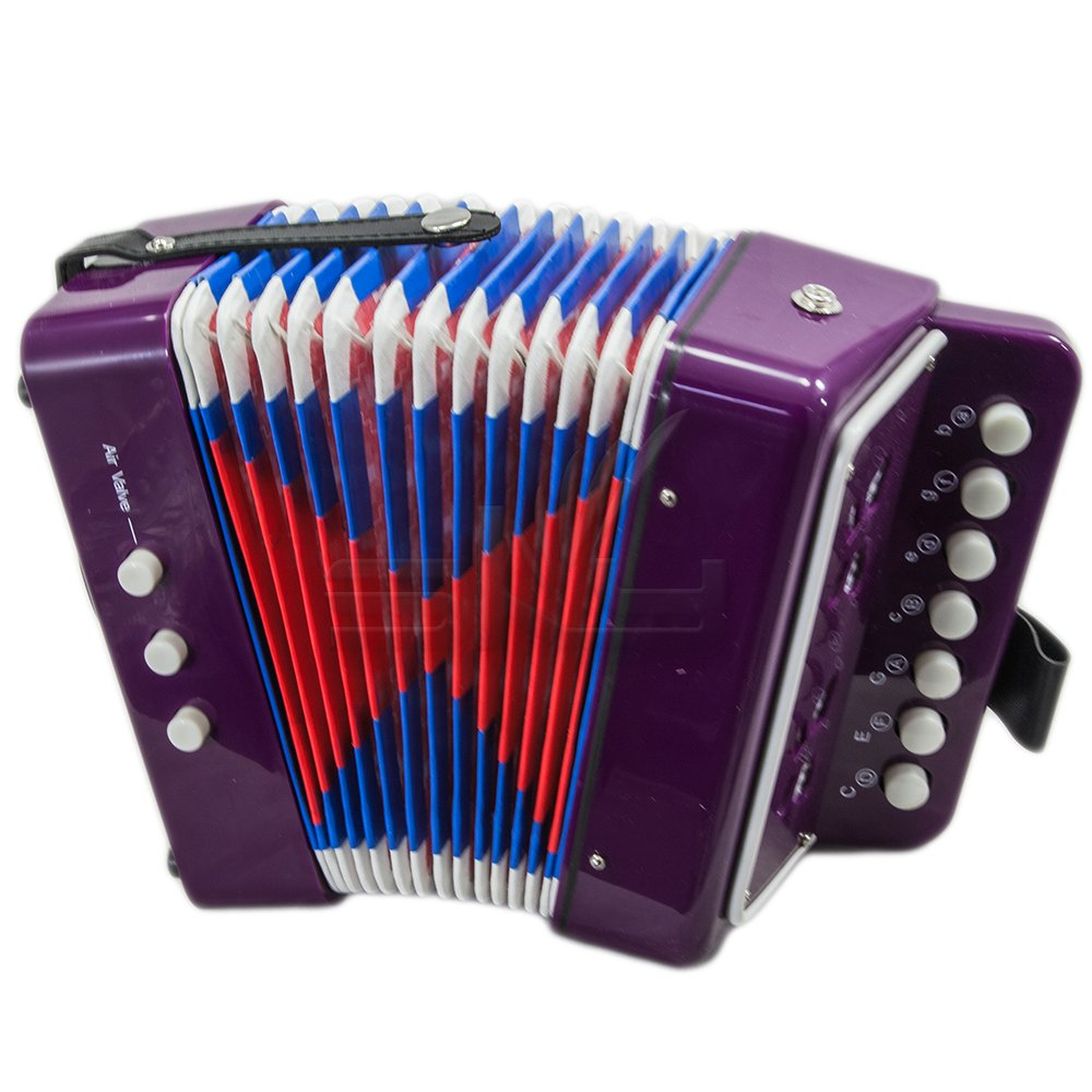 SKY Accordion Purple Color 7 Button 2 Bass Kid Music Instrument High Quality Easy to Play *GREAT GIFT*