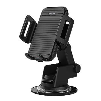 MoKo Cargador Inalámbrico Coche, Cargador Rápido para Automóvil,Soporte retráctil, 7.5W paraiphone XS/XS MAX,Note 8/9, iPhone X / 8/8 Plus, 10W, ...