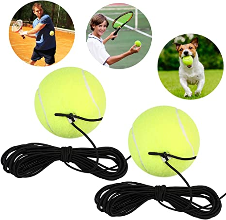 Fanspack Tennis Trainer Ball 2pcs Replacement Ball For Tennis Trainer Tennis Ball On String Rope Rebound Ball Traininer For Single Tennis Player Great For Indoor And Outdoor Amazon Co Uk Sports Outdoors