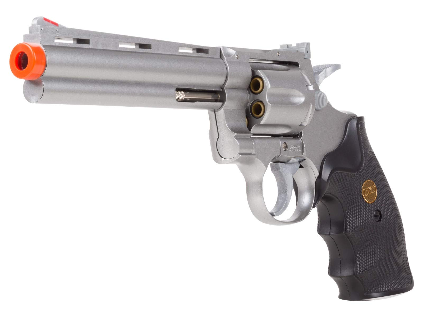 TSD Sports UA938S 6 Inch Spring Powered Airsoft Revolver (Silver) by TSD