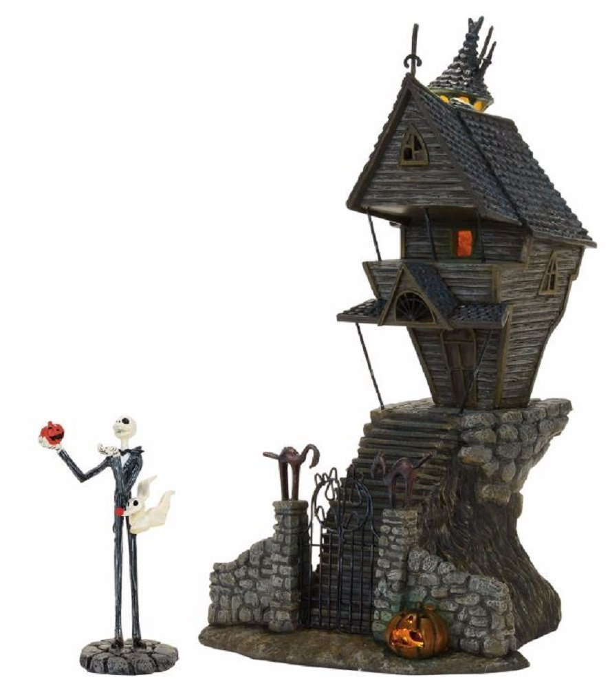 Department 56 Nightmare Before Christmas Village Jack Skellington's Lit House