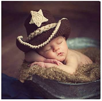 e544f575afc Fashion Cute Newborn Baby Boy Girl Costume Outfits Photography Props Cowboy  Hat  Auberllas  Amazon.co.uk  Toys   Games