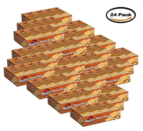 PACK OF 24 - Austin Toasty Crackers with Peanut Butter Cracker Sandwiches, 1.38 oz, 8 count by Austin