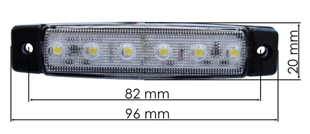 24//7Auto L0051 10 /X Led C/ôt/é 24 /V Marqueur Led Pour Camion Remorque Caravane Blanc