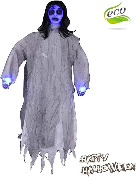 Halloween Sonido Decoracion, Morbuy Tenebrosos Colgantes Zombie ...