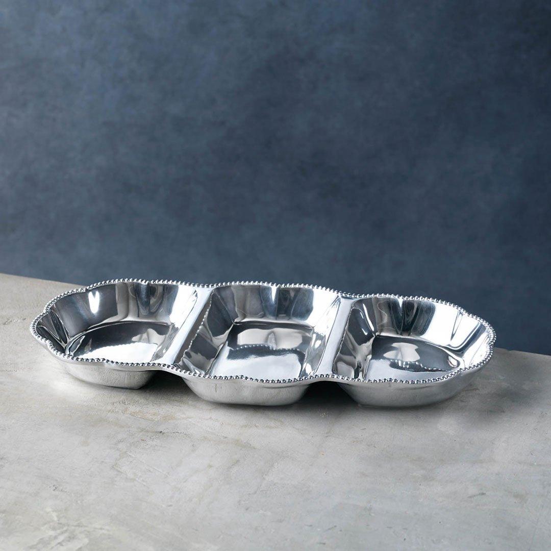 Beatriz Ball 7195 Pearl Denisse Triple Dip Serving set Silver