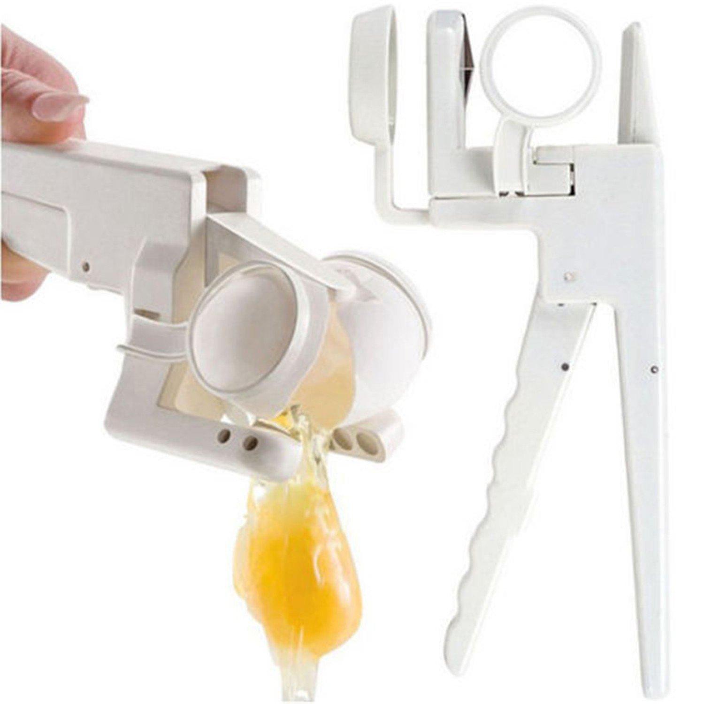 Egg Cracker Opener Handheld York White Separator On TV Home Kitchen Gadget Utensil Tool