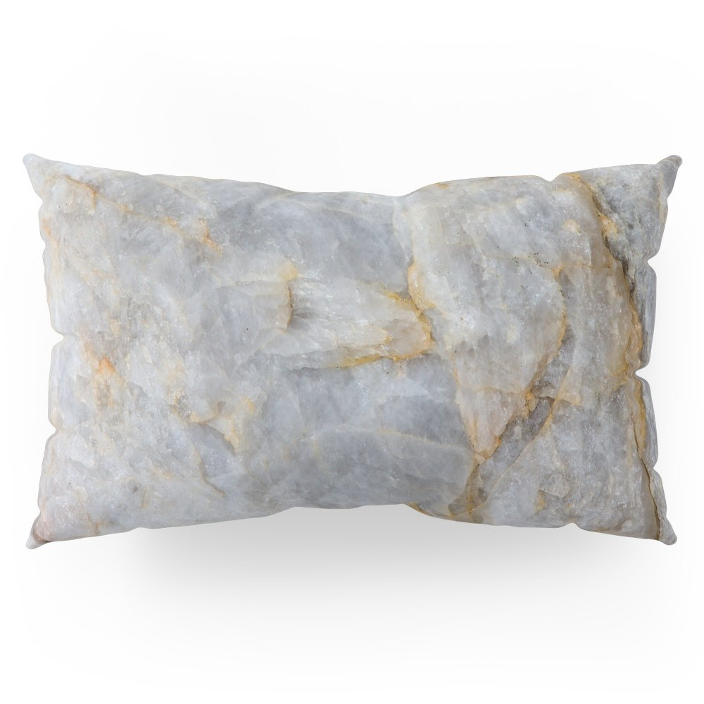 Society6 Classic Grey Quartz Crystal Pillow Sham King (20'' x 36'') Set of 2
