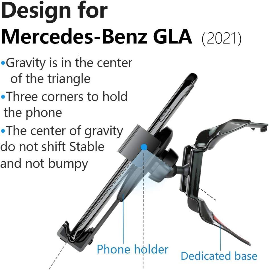 Lunqin Auto Handyhalterung Für 2021 Mercedes Benz Gla Klasse Auto Zubehör Navigation Halterung Innenraum Dekoration Handy Halterung Elektronik
