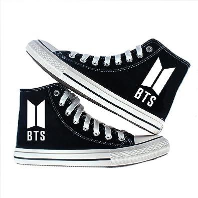 08bc7d4b80b7 BTS Couple Canvas Shoes