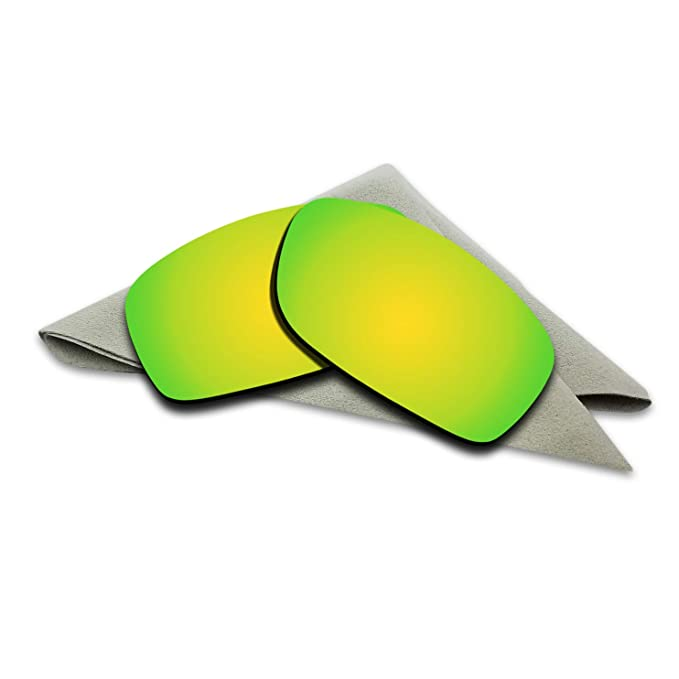 9cd0b28858 24K Golden Mirrored Polarized Lenses Replacement for Oakley Fives Squared  Sunglasses