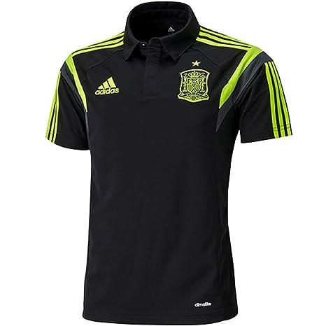 adidas Polo Selección Española -Negro- 2014: Amazon.es: Deportes y ...