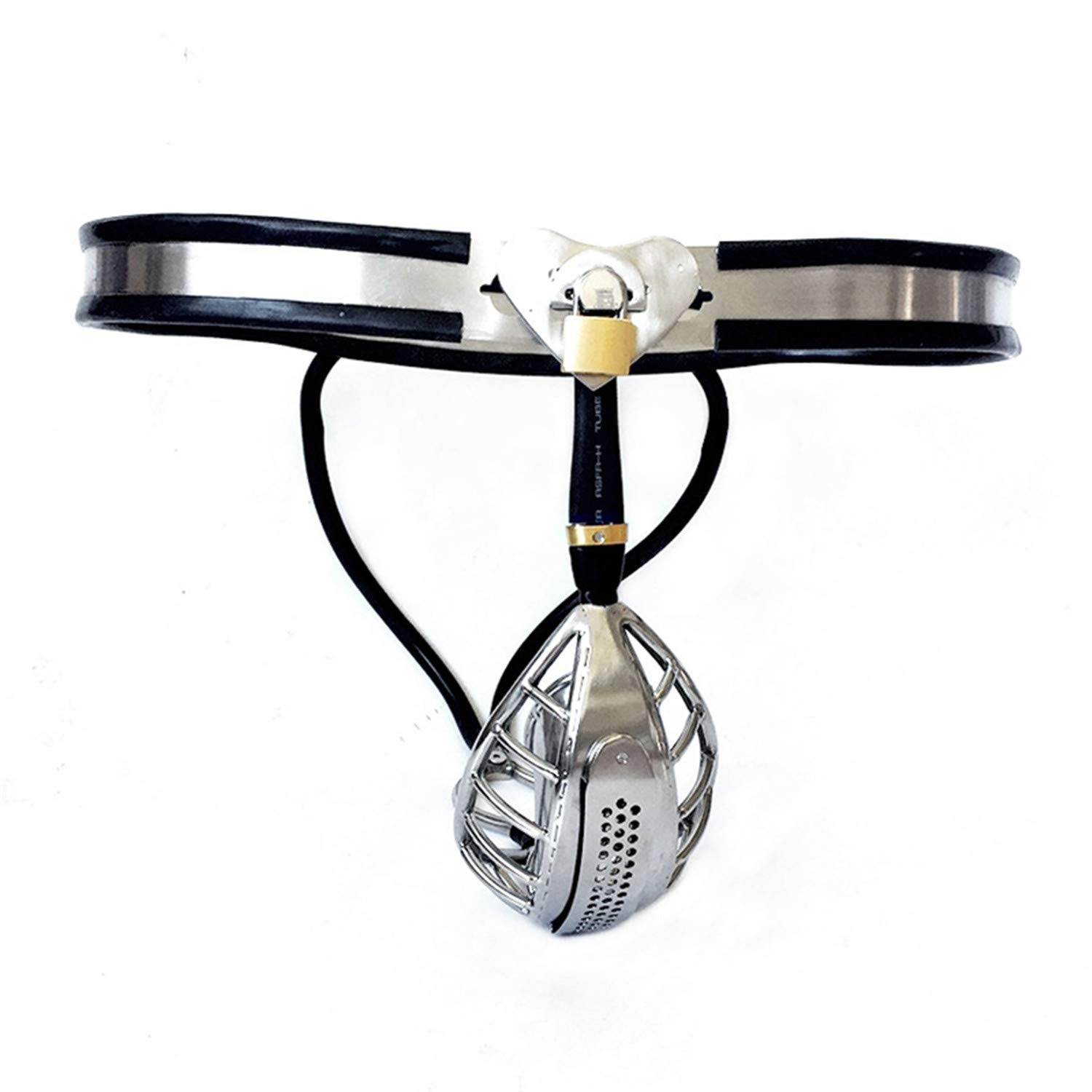 Catheter Sound Male Chastity Chastity Cages Wanyesta Belt Stainless Steel Lock Adult Game CǑck Cage Restraint Device Sěx-Toys For Men by Wanyesta (Image #3)