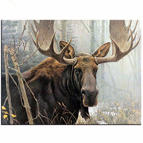 Kit Moose - Yumeart Full Diamond Embroidery Northwoods Moose Cross Stitch Sets Unfinished Decorative Diamond Painting Deer Animals