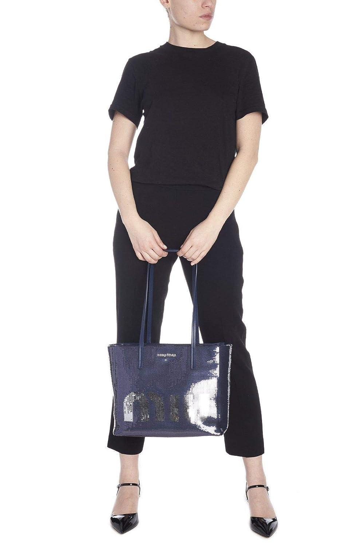 Miu Miu Womens 5Bg147959f015g Blue Leather Tote