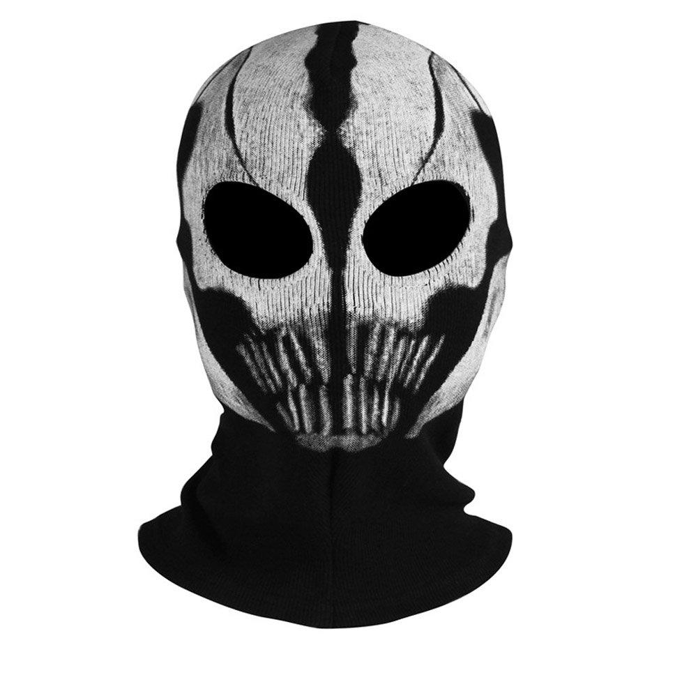 Amazon.com : Innturt Fabric Ghost Mask Balaclava Skull Hood Red ...