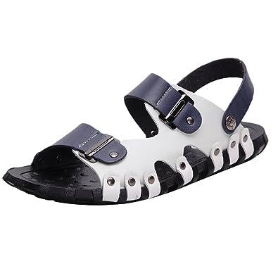 Mallimoda Herren Sommer Sandalen Freizeit Hausschuhe Outdoor Sandal Strandschuhe