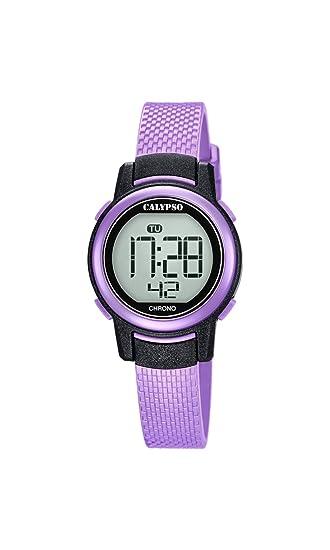 Calypso Reloj Digital para Mujer de Cuarzo con Correa en Plástico K5736/4: Amazon.es: Relojes