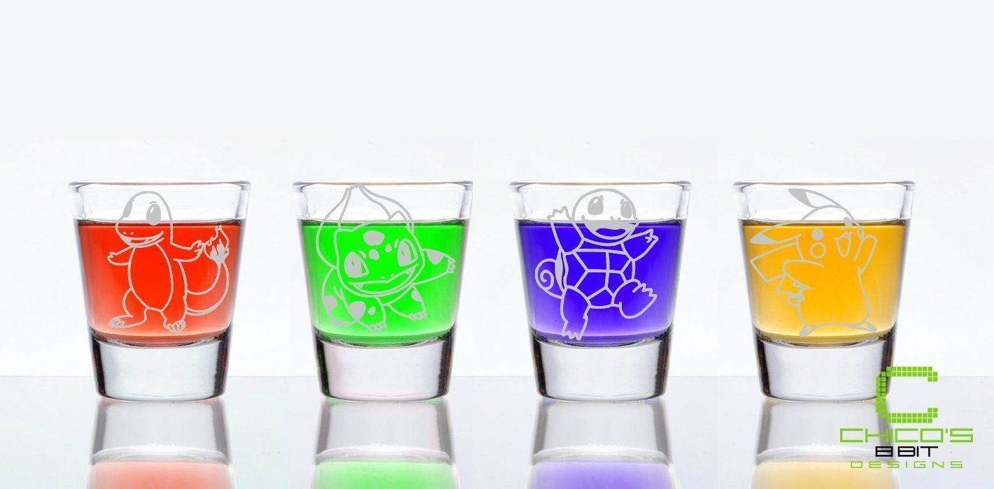 Starting Pokemon Shot Glasses